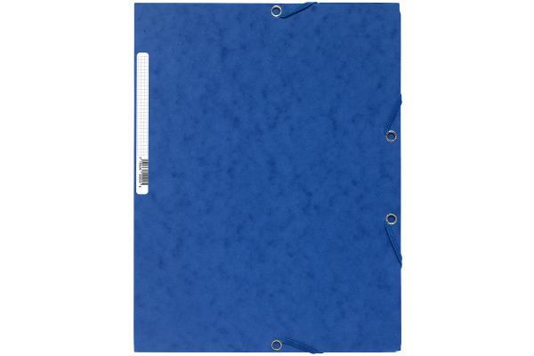 EXACOMPTA Gummibandmappe A4 55502E blau