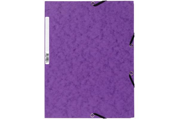 EXACOMPTA Gummibandmappe A4 55508E violett