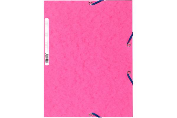 EXACOMPTA Eckspannermappe, DIN A4, Karton 400 g qm, rosa