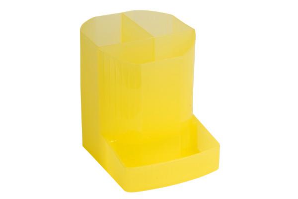 EXACOMPTA Stifteköcher Mini-Octo 67556D gelb-transp. 123x90x110mm