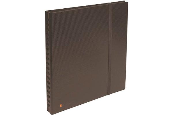 EXACOMPTA Visitenkarten-Buch 26x25cm 75234E schwarz 320 Karten