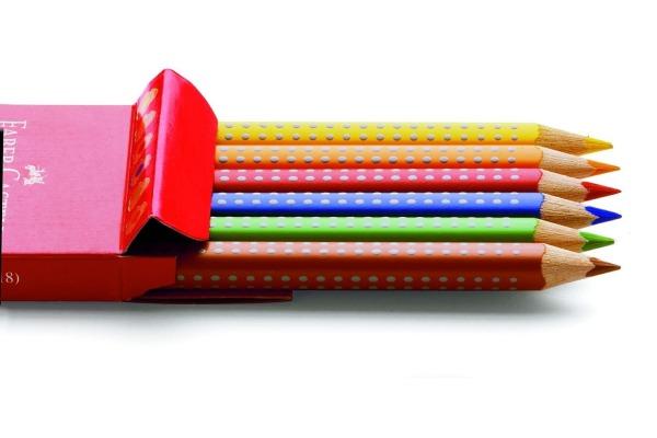 FABER-CASTELL Farbstifte Jumbo GRIP 110906 6-farbig