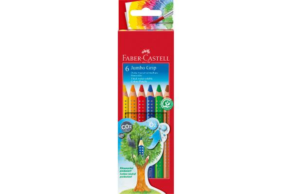 FABER-CA. Farbstifte Jumbo GRIP 110906 6-farbig