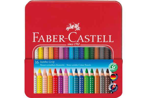 FABER-CASTELL Farbstifte Jumbo Grip 110916 16 Farben...