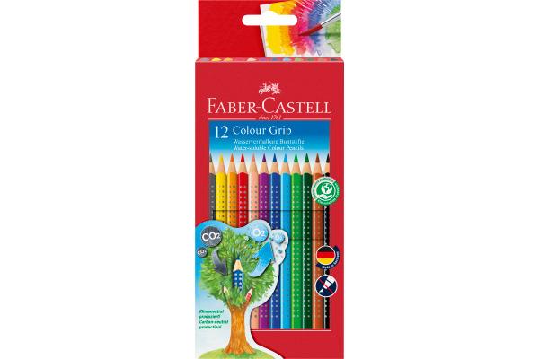 FABER-CASTELL Farbstifte Colour GRIP 112412 12 Farben