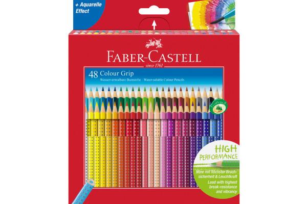 FABER-CASTELL Farbstifte Colour Grip 112449 48er Kartonetui