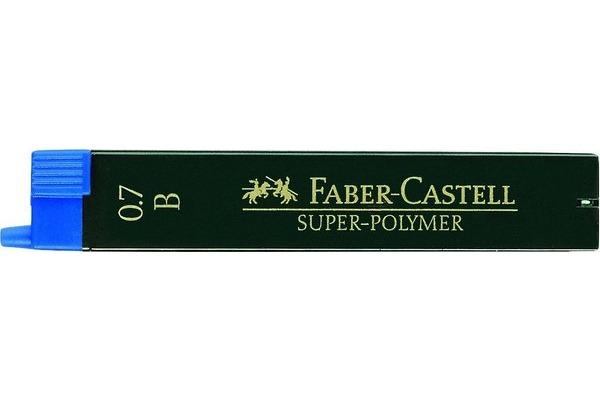 FABER-CASTELL Feinmine SUPER-POLYMER B 120701 schwarz,...