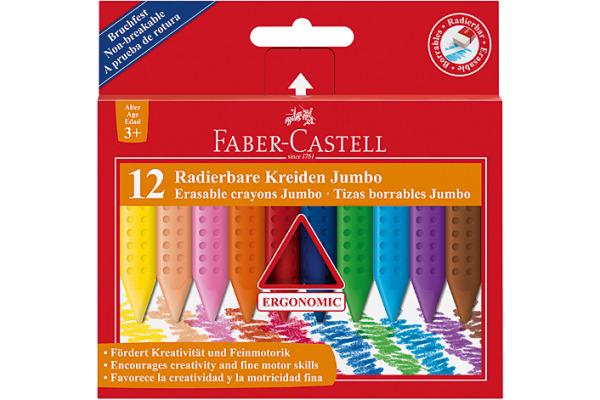 FABER-CASTELL Kreiden Grip Jumbo 122540 12 Farben Etui