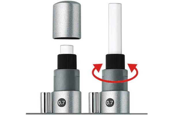 FABER-CASTELL Druckbleistift GRIP 2011 B 131211 silber, mit Radierer 0.7mm