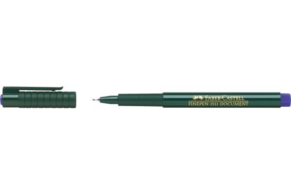 FABER-CASTELL Faserschreiber FINEPEN 1511 0.4mm 151151 blau