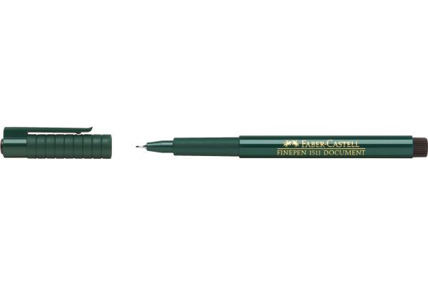 FABER-CASTELL Faserschreiber FINEPEN 1511 0.4mm 151199...