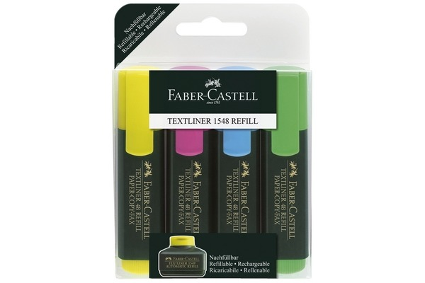FABER-CASTELL Textmarker Textliner 48 154804 4-farbig...