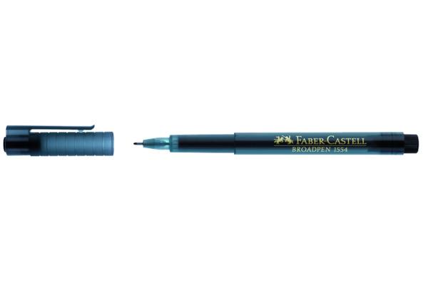 FABER-CASTELL Fineliner Broadpen 1554 0.8mm 155499 schwarz