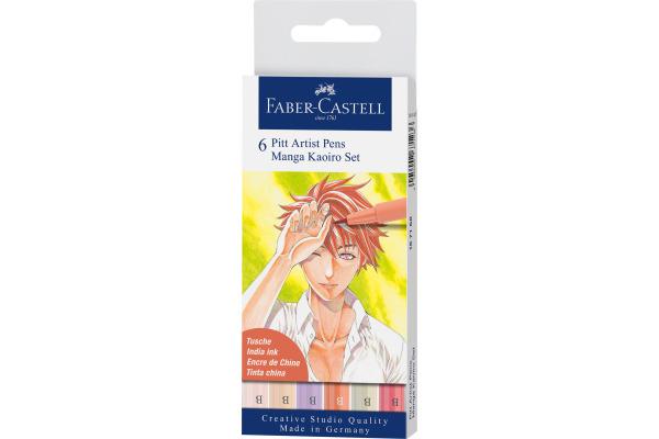 FABER-CASTELL Pitt Artist Pen Manga Kaoiro 167168 diverse...