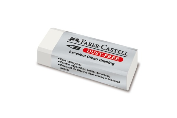 FABER-CASTELL Radierer Dust-Free 187120 transparent
