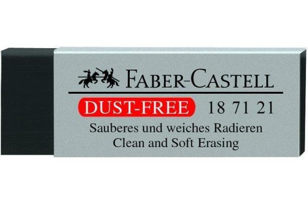 FABER-CASTELL Kunststoffradierer DUST-FREE 187121 schwarz