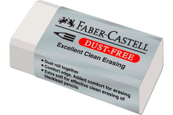 FABER-CASTELL Radierer Dust-free 187130 weiss