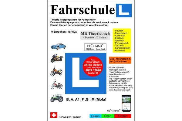 FAHRSCHUL 2019/20 + Buch Vers. 23 (DE)  Kat. A, A1, B,F,G,M (CD-Rom)