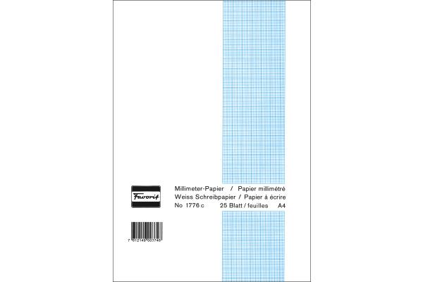 FAVORIT Block A4 1776 C weiss 80g 25 Blatt