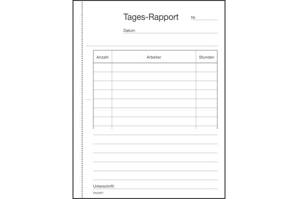 FAVORIT Tages-Rapport D A6 9197 W weiss weiss 100x2 Blatt