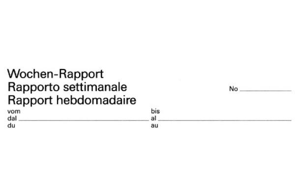 FAVORIT Wochen-Rapporte D F I A4 9301 OK Durchschreibepapier 50x2 Blatt