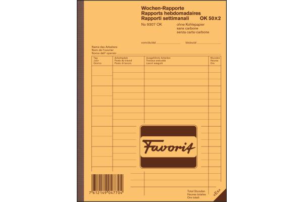 FAVORIT Wochen-Rapporte D/F/I A5 9307 OK...