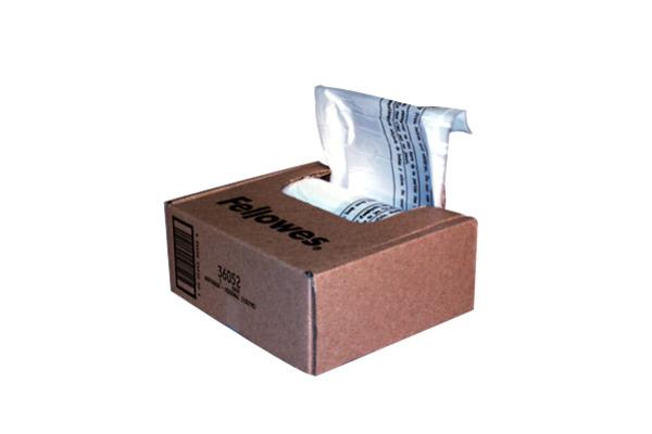FELLOWES Beutel für Aktenvernichter 36052 P,DS,PS,SB-MS-Serie 100 Stck.