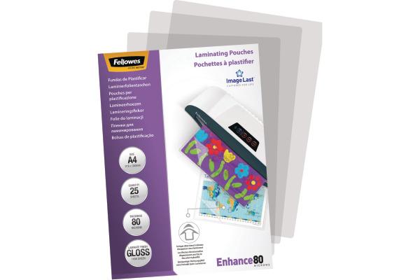 FELLOWES Laminiertasche A4 5396205 glanz, 80my 25 Stk