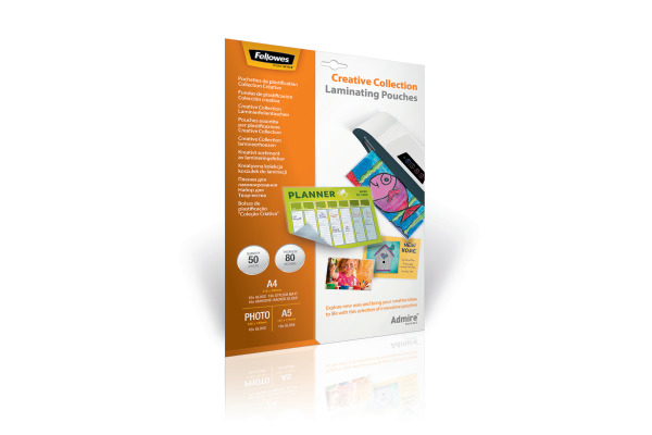 FELLOWES Laminiertasche Set 5602301 div., Creative 50 Stk.