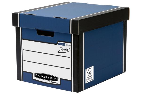 FELLOWES Prestigemium hohe Archivbox 7260601 blau...