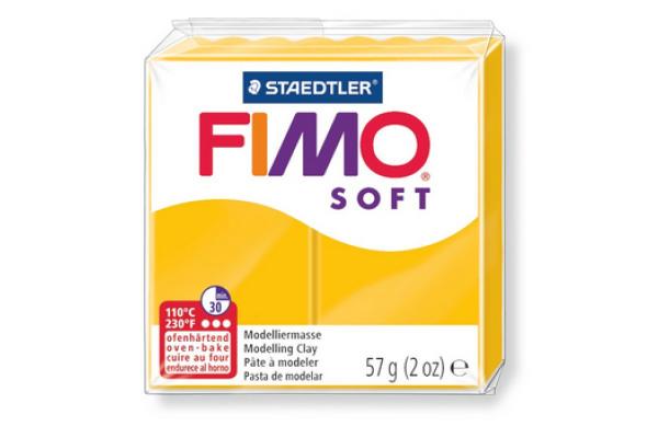 FIMO Knete Soft 57g 8020-16 gelb