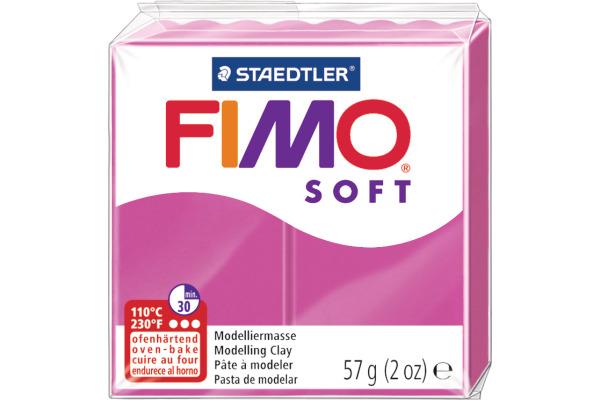FIMO Knete Soft 57g 8020-22 himbeer