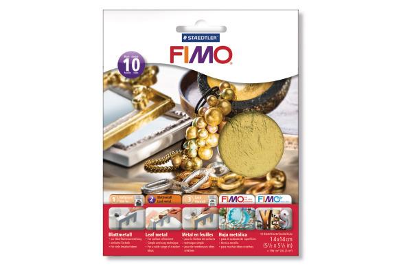 FIMO Blattmetall 14x14cm 878111 gold