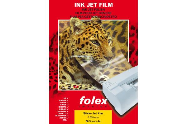 FOLEX Folie Sticky Jet A4 2939C441 transparent 50 Blatt