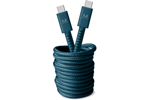 FRESH´N R USB-C Fabriq cable 3.0m 2CCC300PB Petrol Blue