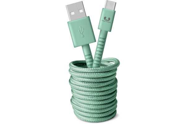 FRESH´N R USB-C Fabriq cable 3.0m 2UCC300MM Misty Mint