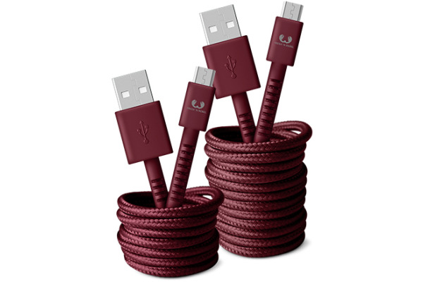 FRESH´N R USB - Micro USB 3m 2UMC300RR Fabriq cable Ruby Red