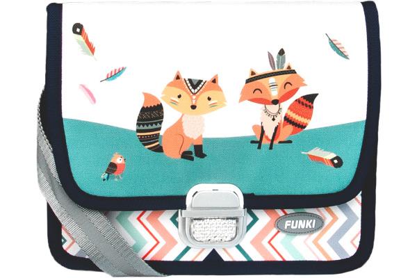 FUNKI Kindergarten-Tasche Foxes 6020.024 türkis 265x200x700mm