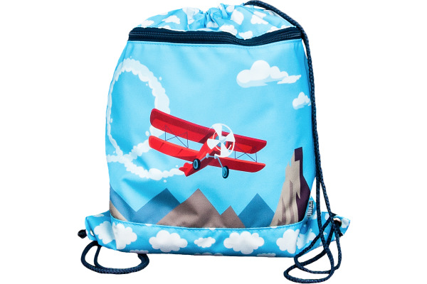 FUNKI Turnsack Airplane 6030.025 blau 360x420mm