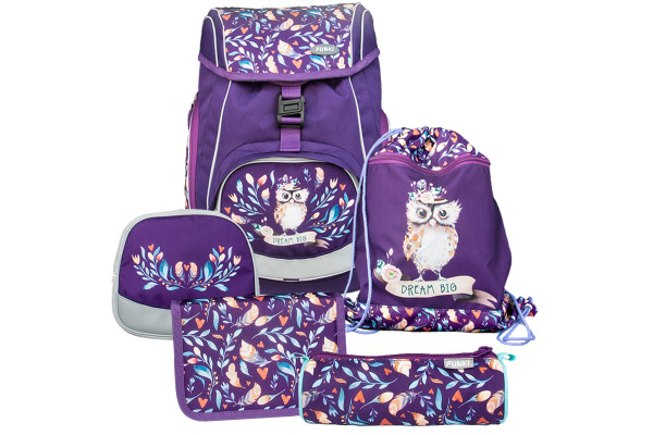 FUNKI Flexi-Bag Set Hippie Owl 6040.608 flieder 5-teilig