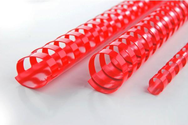 GBC Plastikbinderücken 12mm A4 4028217 rot, 21 Ringe 100 Stück