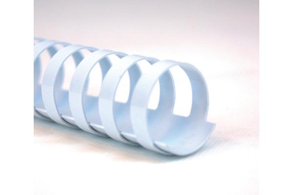 GBC Plastikbindrücken 16mm A4 4028610 weiss, 21 Ringe 100 Stück