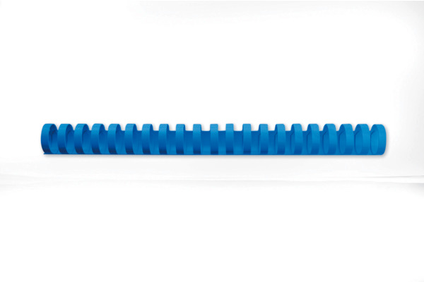 GBC Plastikbindrücken 16mm A4 4028620 blau, 21 Ringe 100 Stück