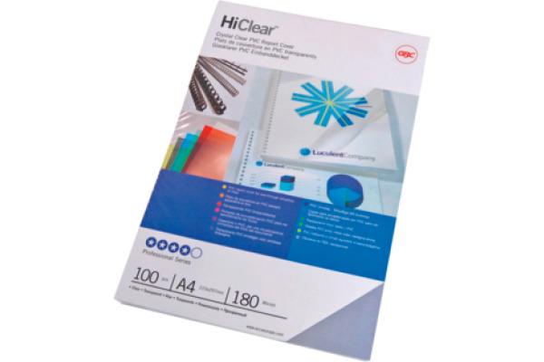 GBC Folie PVC 0,18mm A4 CE011880E Hiclear 100 Stück