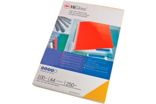 GBC HiGloss Umschlagmaterial A4 CE020071 weiss, 250g 100...