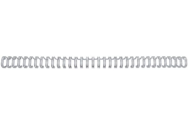 GBC Drahtbinderücken 12mm A4 RG810897 silber, 34...