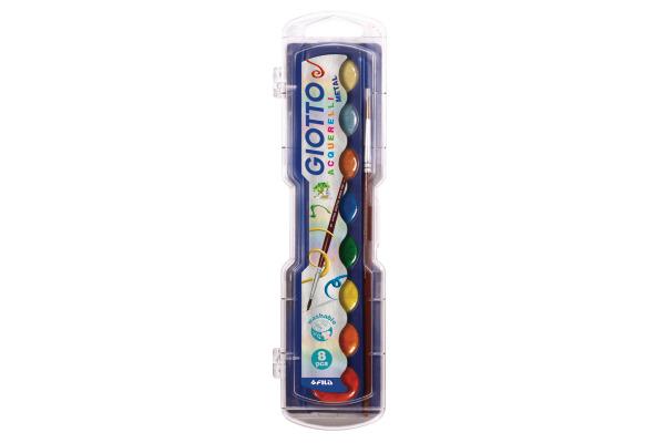 GIOTTO Wasserfarben Metallic 331100 8 Farben