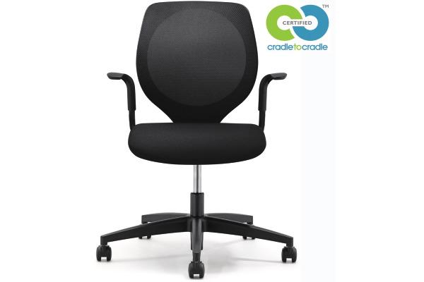 GIROFLEX Bürostuhl CHAIR2GO 353 353-3018 schwarz, mit Armlehne