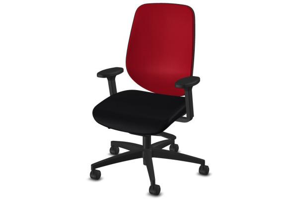 GIROFLEX Bürostuhl 353 353-8029 schwarz/rot