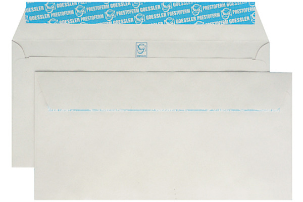GOESSLER Couvert Renova o/Fenster C5/6 1143 80g, grau 500 Stück